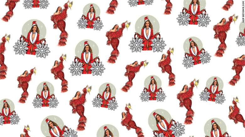 Wrapping paper featuring Bey from her new collection.