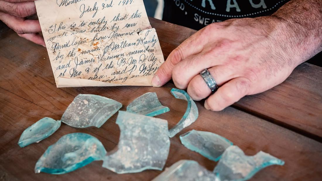 A 112-year-old letter was found during renovations at a New Jersey university