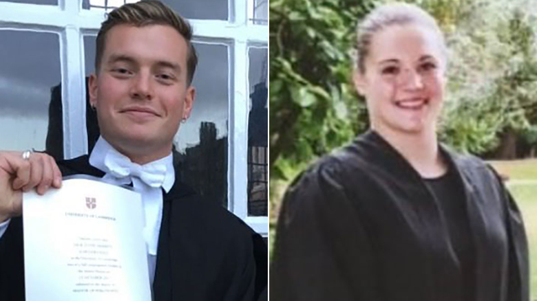 Police identified Jack Merritt (left) and Saskia Jones as the victims of Friday's attack.
