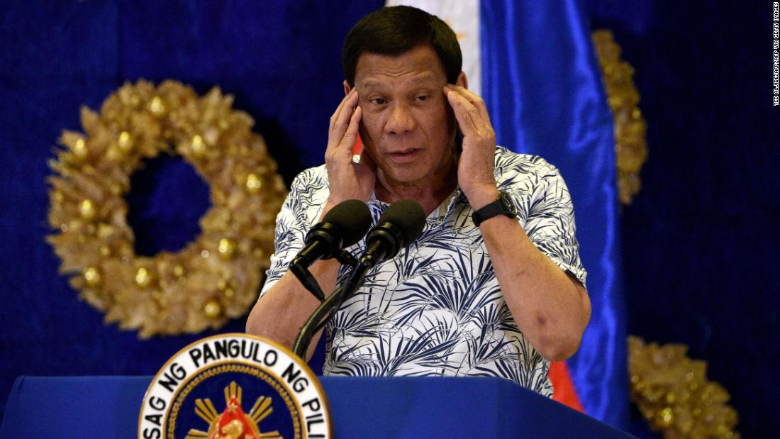 Philippines' Duterte says he won't withdraw ships 'even if you kill me'