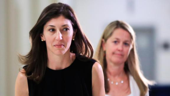 Former FBI lawyer Lisa Page leaves following an interview with lawmakers behind closed doors on Capitol Hill in Washington, Friday, July 13, 2018.