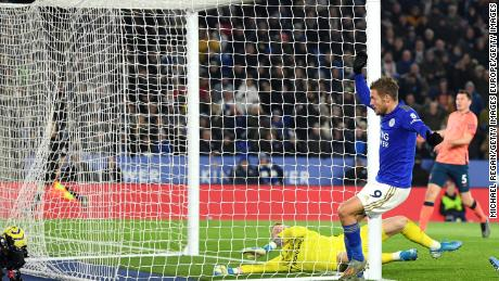 Jamie Vardy can't stop scoring for Leicester City this season in the Premier League.