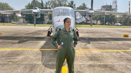 Sub Lieutenant Shivangi is India's first woman navy pilot.
