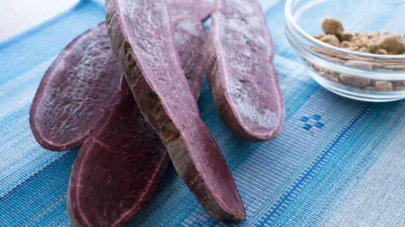 Imo is a supercharged purple sweet potato that doesn't cause blood sugar to spike as much as a regular white potato.