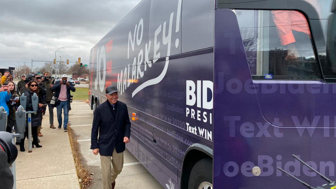Joe Biden makes pitch to rural Iowans with 'No Malarkey' bus tour