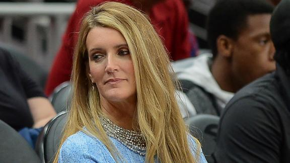Atlanta owner Kelly Loeffler is seen during a WNBA game on September 5th, 2019 at State Farm Arena in Atlanta, GA.