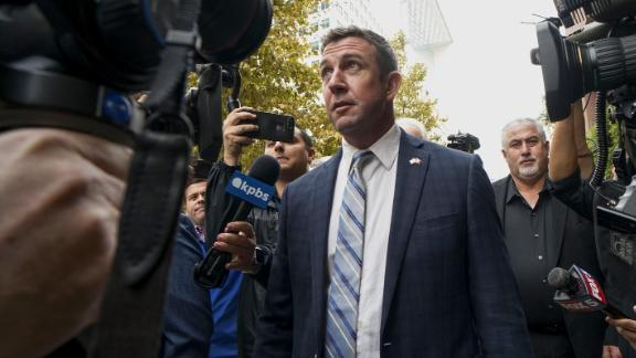 Rep. Duncan Hunter (R-CA) walks into Federal Courthouse on December 3, 2019 in San Diego, California.