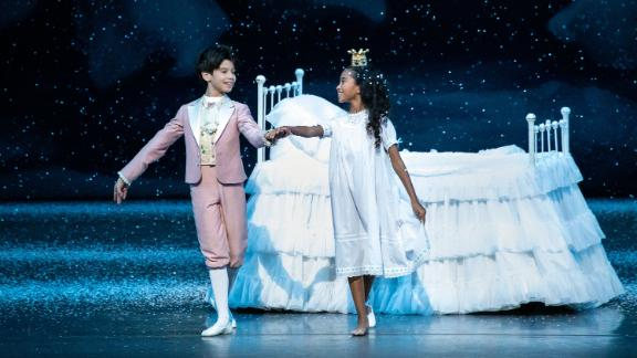 """Charlotte Nebres, right, was cast as Marie in New York City Ballet's annual production of """"George Balanchine's The Nutcracker."""""""