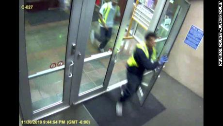 Security video shows the moment when four teens escaped a juvenile detention center.