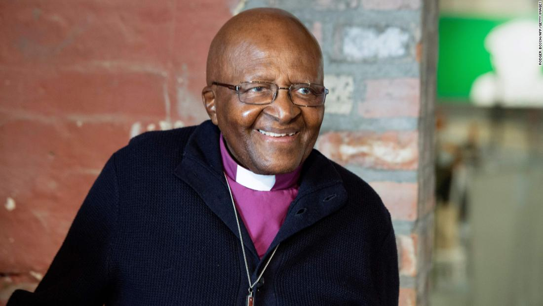 Archbishop Desmond Tutu attends an event in Cape Town, South Africa, in April 2019.