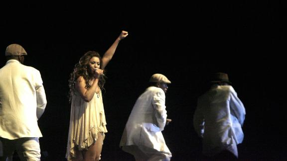 US singer Beyonce performed during a concert in Addis Ababa, Ethiopia in 2007. Beyonce