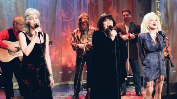 """The super-group of (left to right) Emmylou Harris, Linda Ronstadt and Dolly Parton reunited for a second album, aptly titled """"Trio II,"""" in 1999. Here, the three singers perform on """"The Tonight Show with Jay Leno."""""""