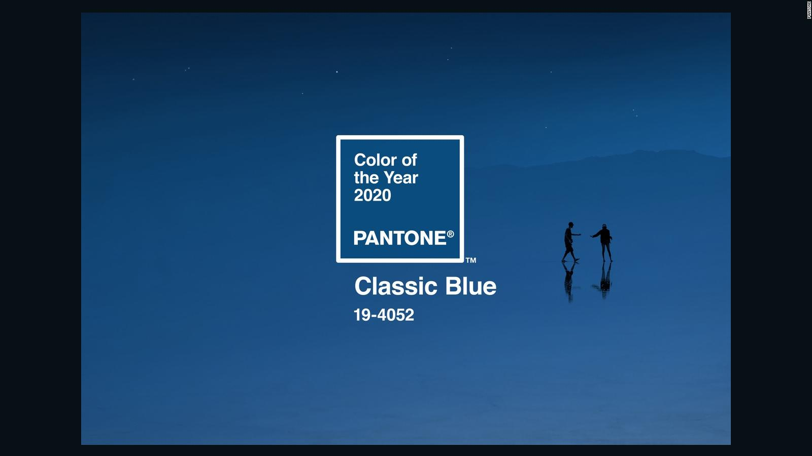 Pantone Unveils Its Color Of The Year For 2020 Classic Blue Cnn