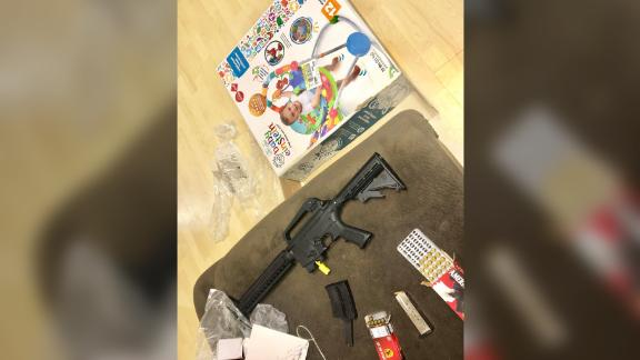 This is what a Florida couple says they found inside when they opened the baby bouncer box.