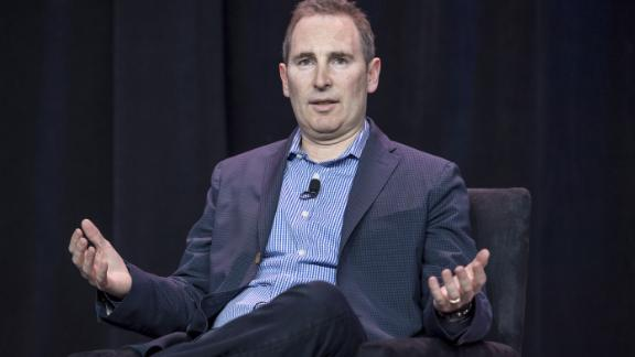 Andy Jassy, chief executive officer of web services at Amazon.com Inc., speaks during the Amazon Web Services (AWS) Summit in San Francisco, California, U.S., on Wednesday, April 19, 2017. Jassy is leading a push into artificial intelligence to boost Amazon's cloud computing, which commands about 45 percent of the market for infrastructure as a service, where companies buy basic computing and storage power from the cloud.