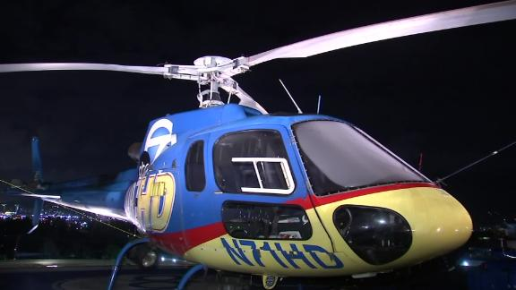 KABC crew on board the station's Air7 HD chopper said the suspected drone ripped a hole through the tail of the craft and left dents and scratches.
