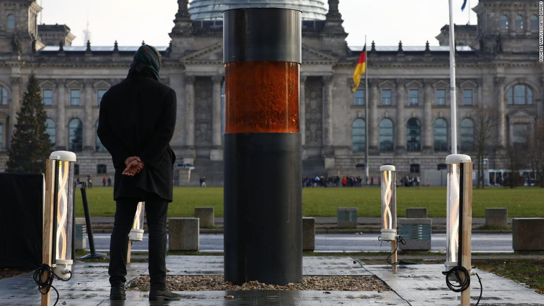 German art activists apologize for displaying urn containing 'Holocaust ashes'