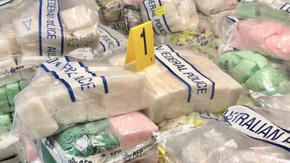 Drugs seized by Australian authorities Wednesday, December 4 are seen in this handout photograph.