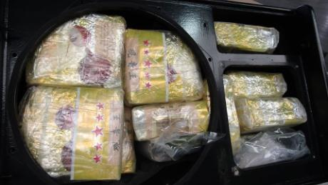 The drugs were hidden in speakers shipped from Thailand, police said.