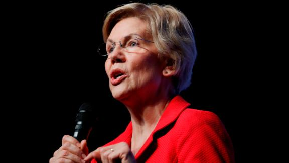 Democratic presidential candidate Sen. Elizabeth Warren, D-Mass., speaks during a fundraiser for the Nevada Democratic Party, Sunday, Nov. 17, 2019, in Las Vegas. (AP Photo/John Locher)