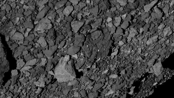 Bennu's surface is covered in boulders.