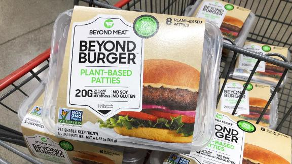 Beyond Meat will be sold at some Costco stores in a new eight patty pack.