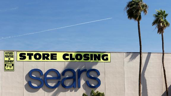 Signage on a Sears store being closed in Las Vegas, Nv., on Thurs., Feb. 28, 2019. (Larry MacDougal via AP)