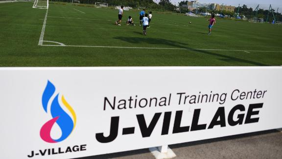 The J-Village sports complex is located around  12 miles south of the disabled Fukushima Daiichi nuclear power plant.