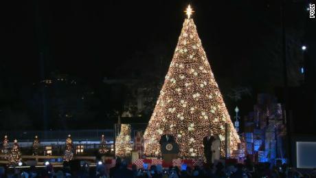 Donald Trump Christmas Tree Lighting Ceremony 2020 Trump lights National Christmas Tree to mark holiday season