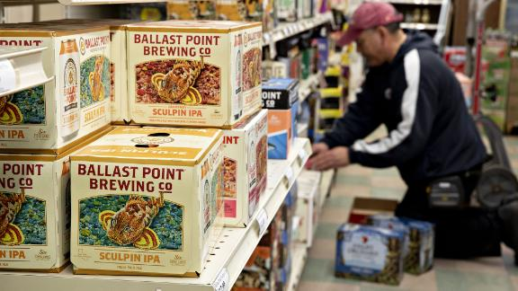 Constellation Brands Inc.'s Ballast Point Brewing Co. beer sits on a shelf at a store in Ottawa, Illinois, U.S., on Tuesday, April 2, 2019. Photographer: Daniel Acker/Bloomberg via Getty Images