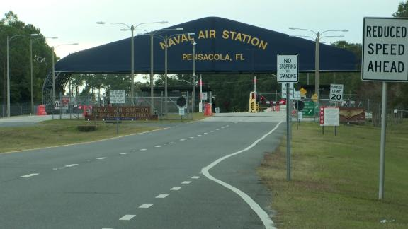 At least two were killed in a shooting at the Naval Air Station Pensacola in Florida on Friday