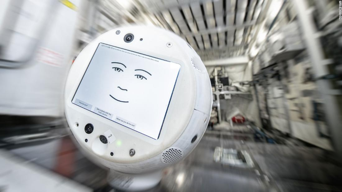 The first mobile astronaut assistant in space, CIMON, has a sibling: CIMON 2. It is shown here during tests in the Columbus mock-up at the European Astronaut Centre in Cologne. CIMON 2 was launched to the International Space Station on 4 December 2019 on board a SpaceX-19 rocket from Cape Canaveral in Florida.  Credit: DLR (CC-BY 3.0)