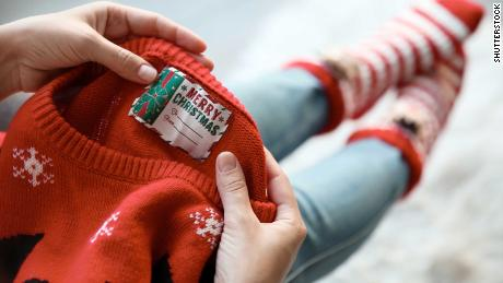 A UK charity has warned of the environmental harm caused by Christmas jumpers, which contain levels of plastic materials.