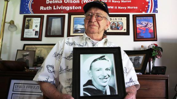 Lauren Bruner, one of five remaining survivors of the USS Arizona which was attacked on Dec. 7, 1941.