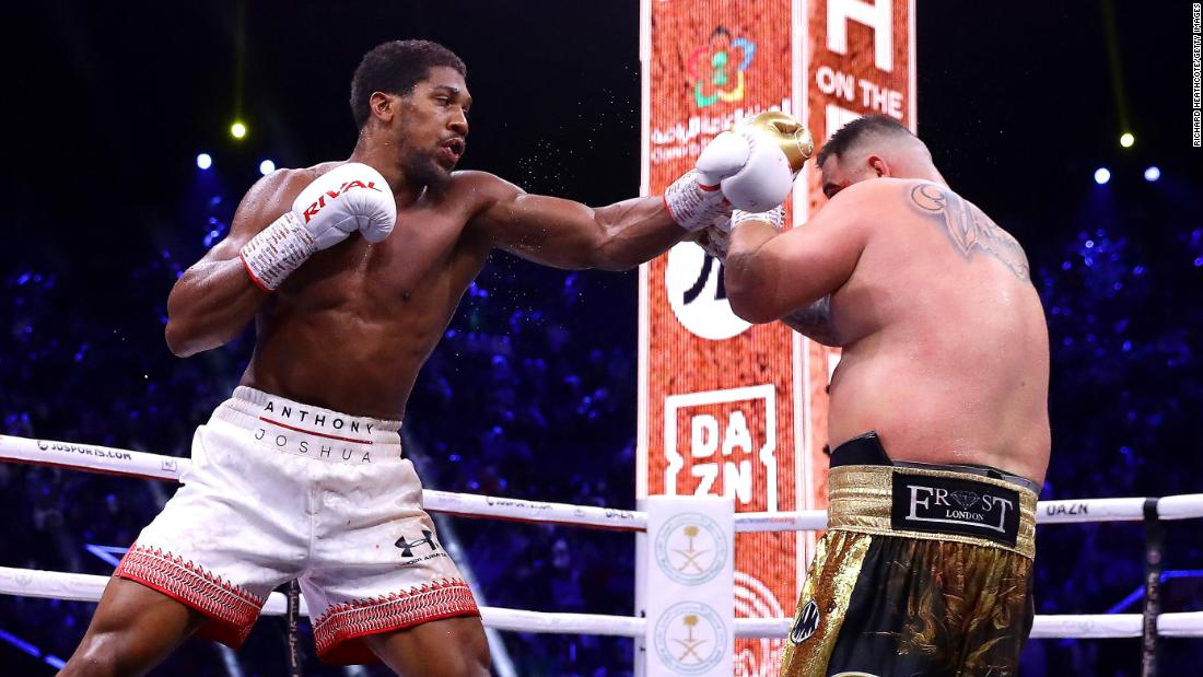 Anthony Joshua wins rematch with Andy Ruiz Jr. in Saudi Arabia 'Clash on the Dunes'