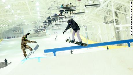 Snowboarders and skiers now can enjoy North America's first indoor ski and snowboard park in East Rutherford, New Jersey.