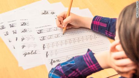 Some research shows that learning cursive benefits a child's development.