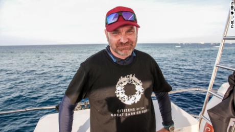 Andy Ridley, CEO of Citizens of the Great Barrier Reef at Moore Reef off Cairns, Australia, November 17, 2019.