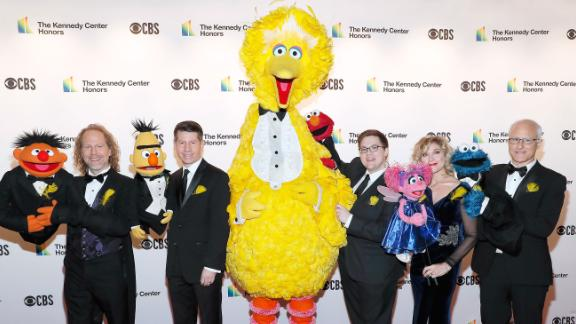 Sesame Street characters (L-R) Ernie, Bert, Big Bird, Elmo, Abby Cadabby and Cookie Monster attend the 42nd Annual Kennedy Center Honors at Kennedy Center Hall of States on December 08, 2019 in Washington, DC.