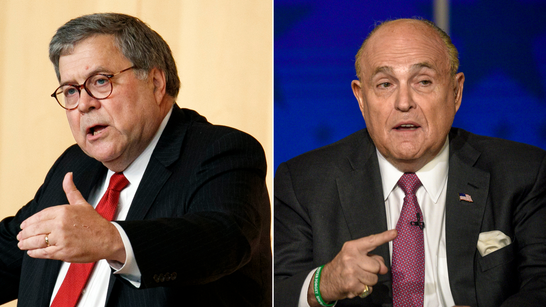 Current Status: Barr dropped into Giuliani meeting at Justice Department in previously undisclosed encounter
