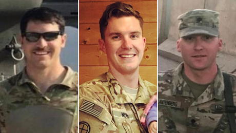 All three soldiers had returned in May from a nine-month deployment in the Middle East