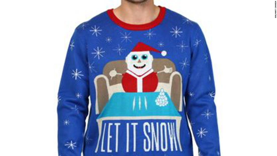Christmas sweater with Santa and cocaine forces Walmart to apologize
