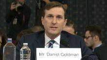 Daniel Goldman is the top lawyer for the House Intelligence Committee