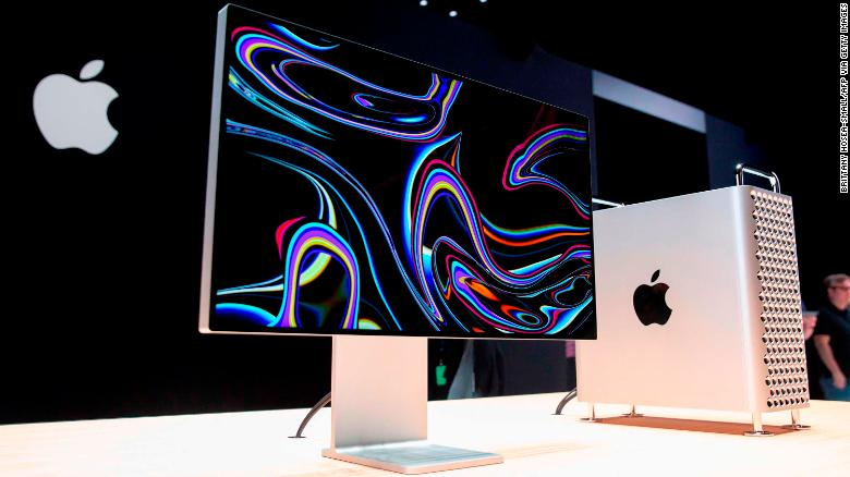 Apple's Mac Pro sits on display in the showroom during Apple's developer conference earlier this year.