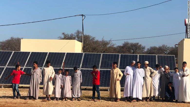 Thirty-two solar panels power the village of Id Mjahdi, in Morocco.