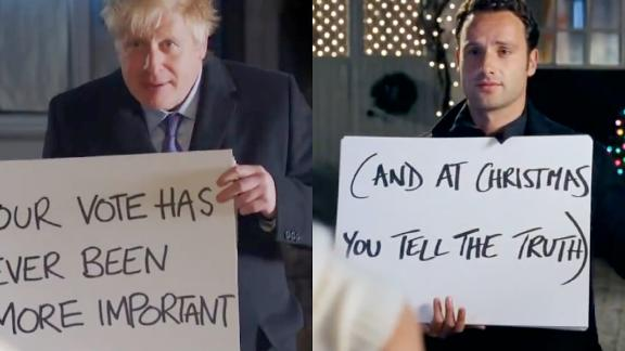 """Boris Johnson stars in a new pro-Brexit ad that's a parody of """"Love Actually."""""""