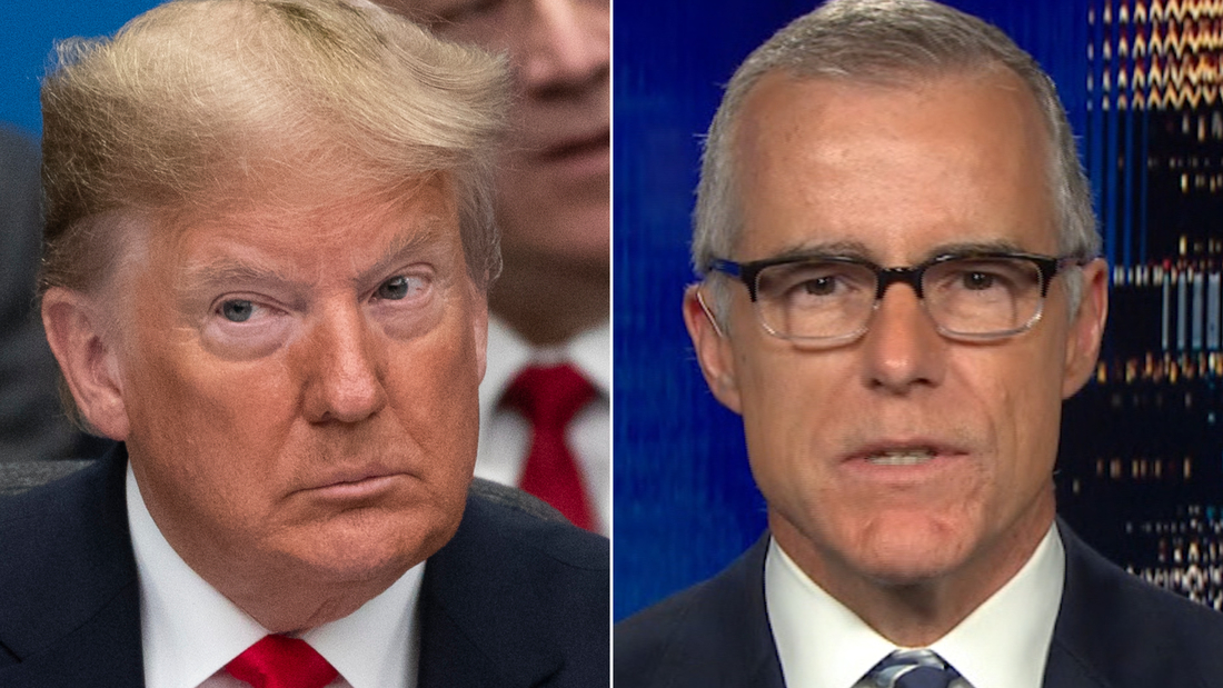 Andrew McCabe says being accused of treason by Trump is 'quite honestly terrifying'