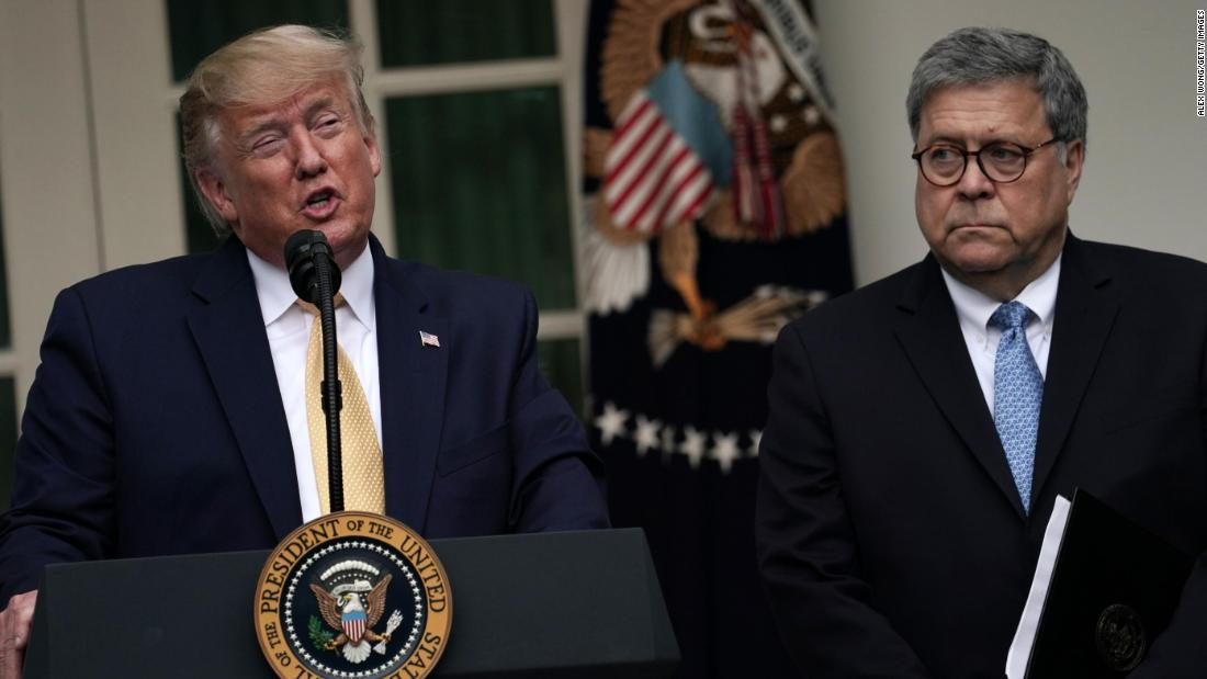 Barr says Trump's tweets about DOJ cases make it 'impossible to do my job'