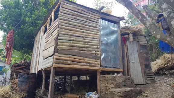 A menstruation hut in Nepal, photographed by researchers from the University of Bath.