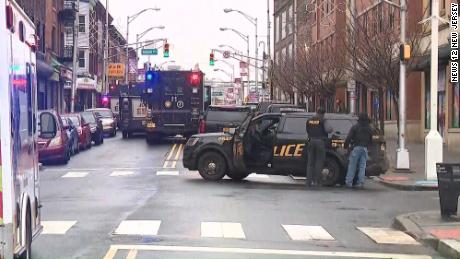 The chaos broke out on the streets of Jersey City.